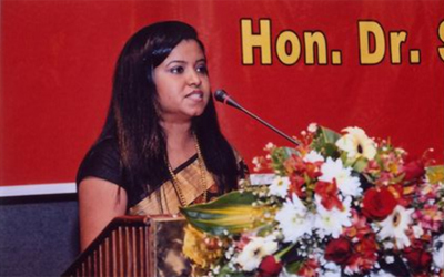 Ms. Ridmika Dep, the President Sri Lanka Women Lawyers' Association