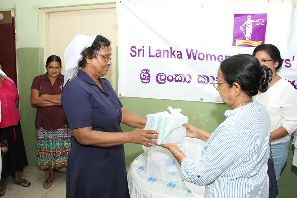 SLWLA Offered Lunch For All The Inmates At Victoria Home In Rajagiriya.